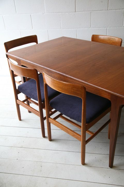 1960s Teak Dining Table And 6 Chairs By Dalescraft Retro Lakas Targyak