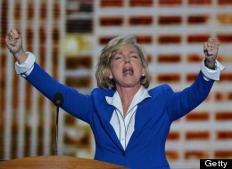 Jennifer Granholm--For her enthusiastic Convention Speech, shown here.
