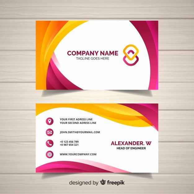 Free Download Business Card Templates New Business Card Template Vector Vector Business Card Free Business Card Templates Download Business Card