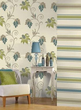 Dominca Green has a linen texture with a sprawling trelis floral motif. It is $99 per roll and sold online at www.wallcandywallpaper.com.au