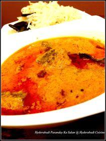 Hyderabadi Cuisine: Hyderabadi Pasandey Ka Salan