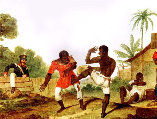 """ Struggling Blacks, Brazil "" Augustus Earle , 1822 ( National Library of Australia)"