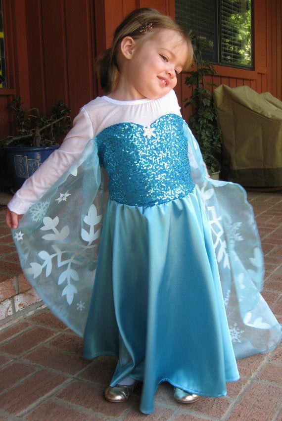 Princess Elsa Dress Disney Frozen on Etsy, $78.00