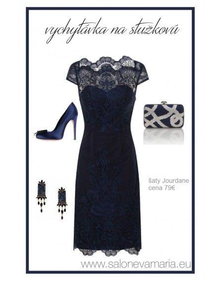 Púzdrové čipkované šaty
