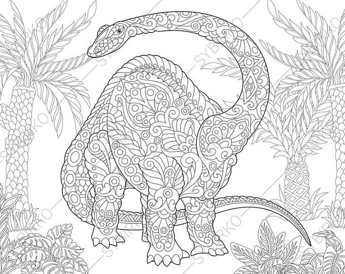 Pterodactyl Dinosaur. Pterosaur. Dino Coloring Pages. Animal ...