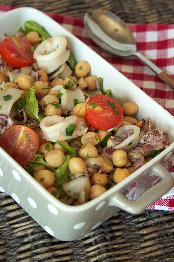 Cinco Quartos de Laranja: Um desafio com sabor a Verão e uma salada de lulas com grão
