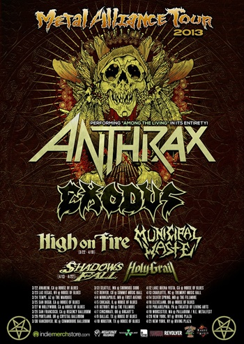 Live: Metal Alliance Tour – The Fillmore, Silver Spring, MD, USA. April 14th 2013