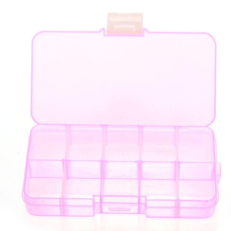 Pilulier Boite 10 Cases Amovible pour Bijoux Ongles Faux Medicament Pilules