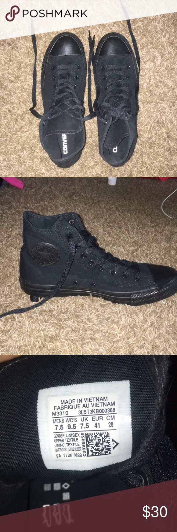 NEW all black high-top Converse Brand new & in flawless condition, never been worn! ✨ Converse Shoes