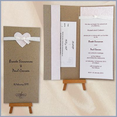 29 best invitations images on pinterest handmade wedding handmade wedding invitations devereux creative toowoomba cambooya stopboris Image collections