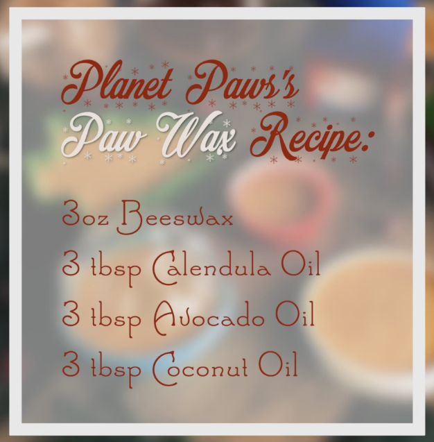 Paw Wax Recipe from Planet Paws