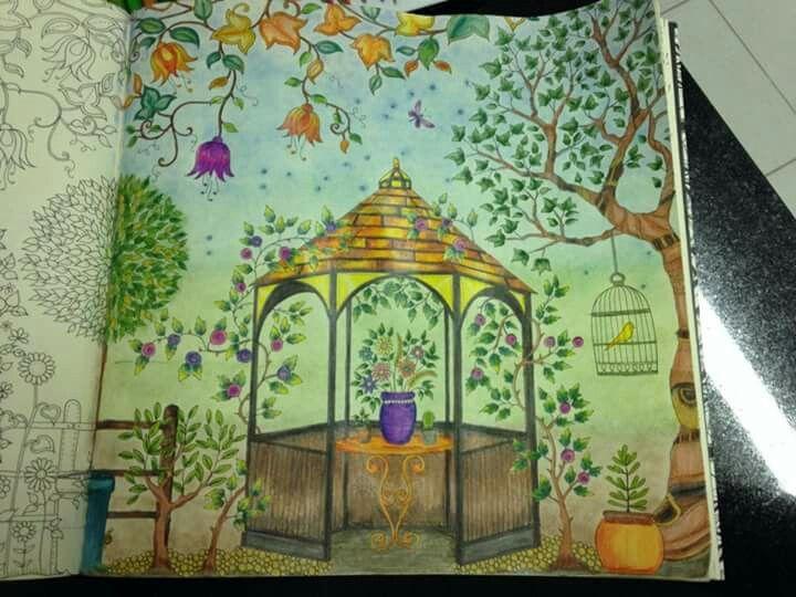 Barbosa Samantha Johanna Basford Secret GardenGazeboSecret GardensColoring BooksColoringBooksGarden