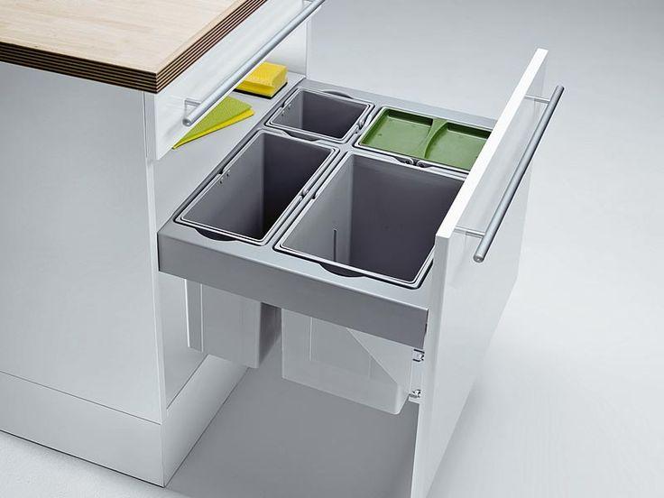 Wesco Pullboy Premium 60 Mülleimer 4-fach Trennung Vollauszug   Wesco Mülleimer   Mülleimer   Nordsee Küchen