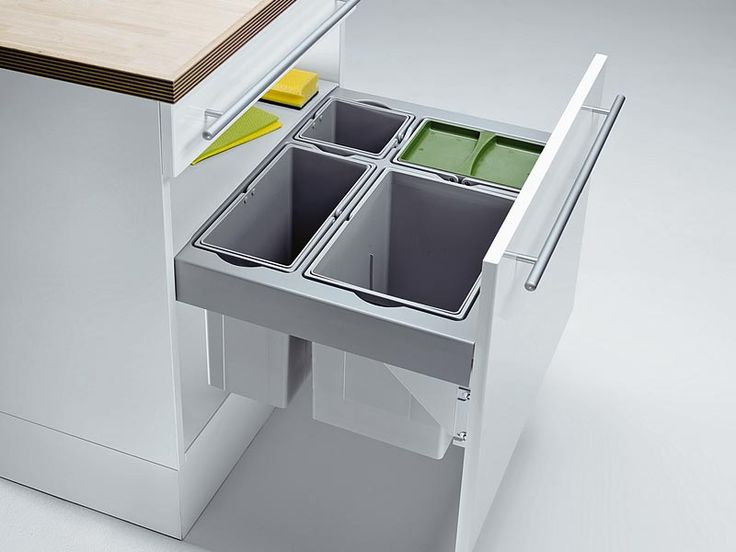 Wesco Pullboy Premium 60 Mülleimer 4-fach Trennung Vollauszug | Wesco Mülleimer | Mülleimer | Nordsee Küchen