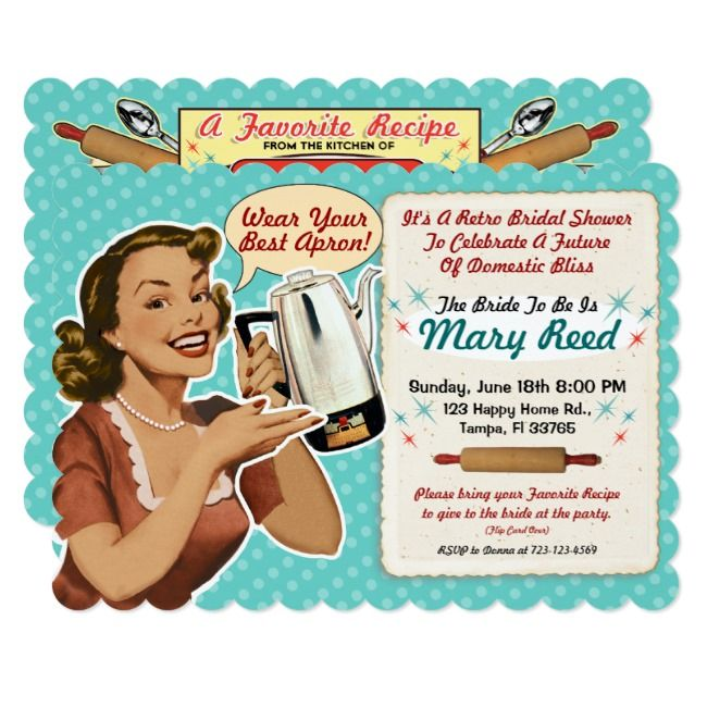 Bridal Shower Invitation Recipe Card