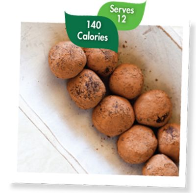 Stevia Chocolate Truffles | SweetLeaf® Swap the choc. chips for cocoa powder and P3 Yum
