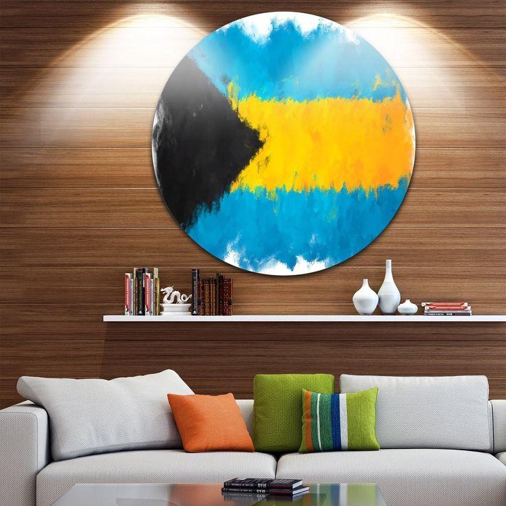 Designart 'Bahamas Flag Illustration' Flag Painting Round Wall Art
