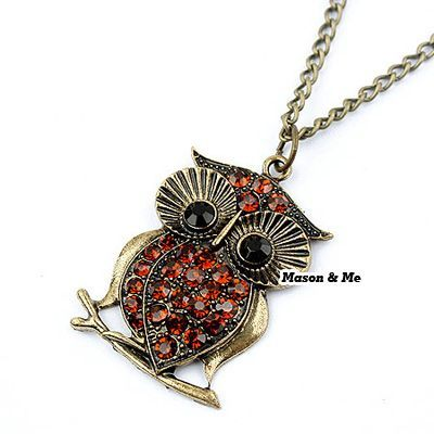 Korean Retro Classics Fashion OWL Decorated With Rhinestones Sweater Chain General. Small and catchy. REPIN if you like it. Only 31 IDR