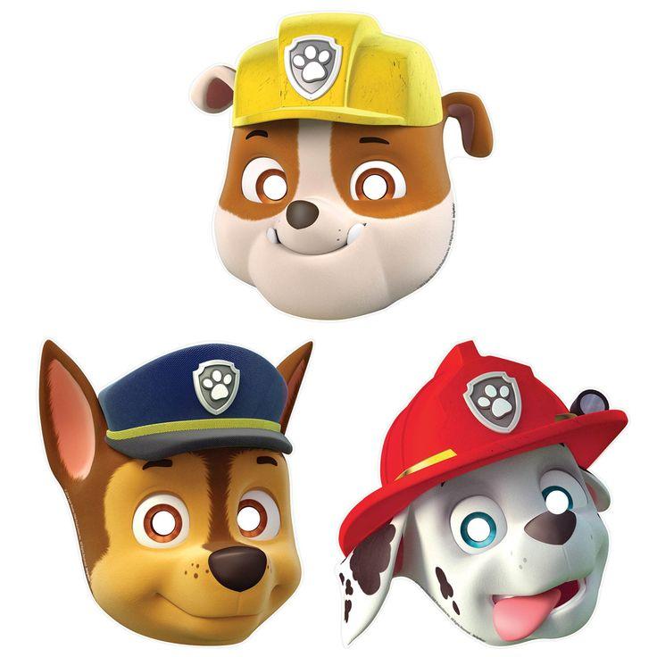 PAW+Patrol+Paper+Masks+(8) from BirthdayExpress.com