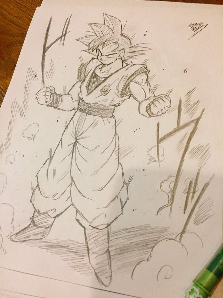 Dessin : Son Goku (Kakarotto) forme normal