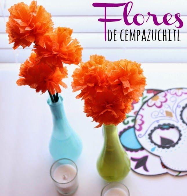 Una Mexicana en USA: Cómo hacer flores de Cempazuchitl para el altar de muertos