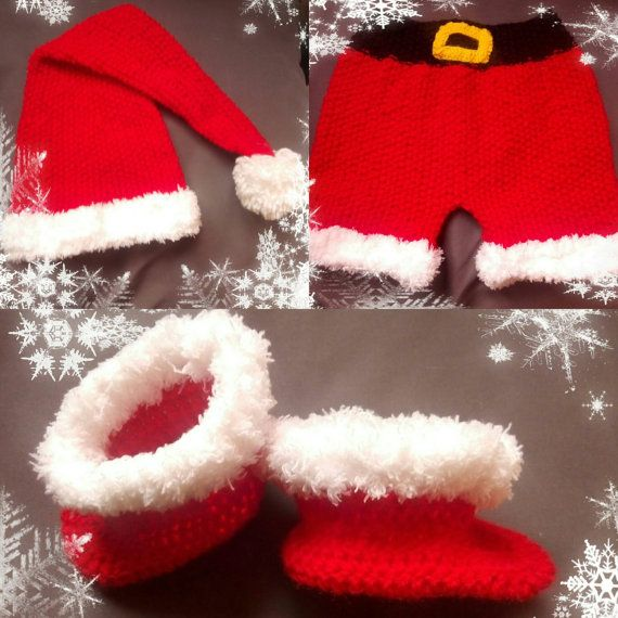 Santa baby outfit crochet Santa outfit Christmas by ButiculColorat