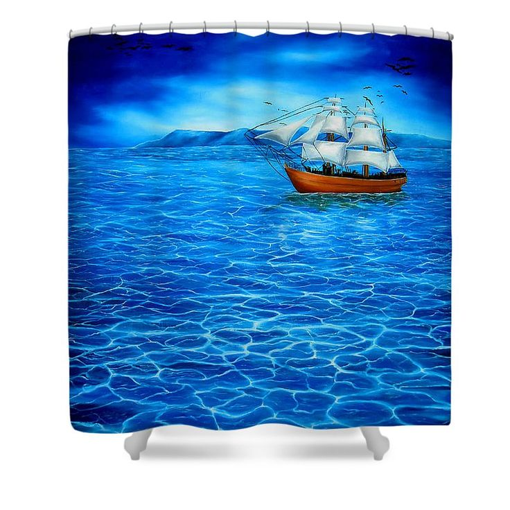 Shower Curtain,  bathroom,accessories,unique,fancy,cool,trendy,artistic,awesome,beautiful,modern,home,decor,design,for,sale,unusual,items,products,ideas,blue,nautical,sailboat,marine,ocean