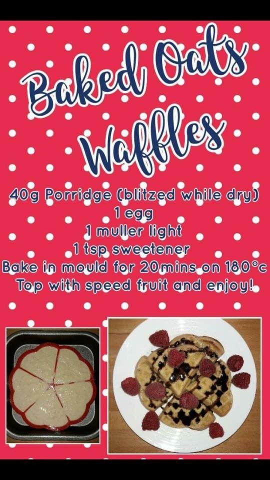 Baked oat waffles