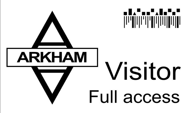 arkham asylum visitor access card