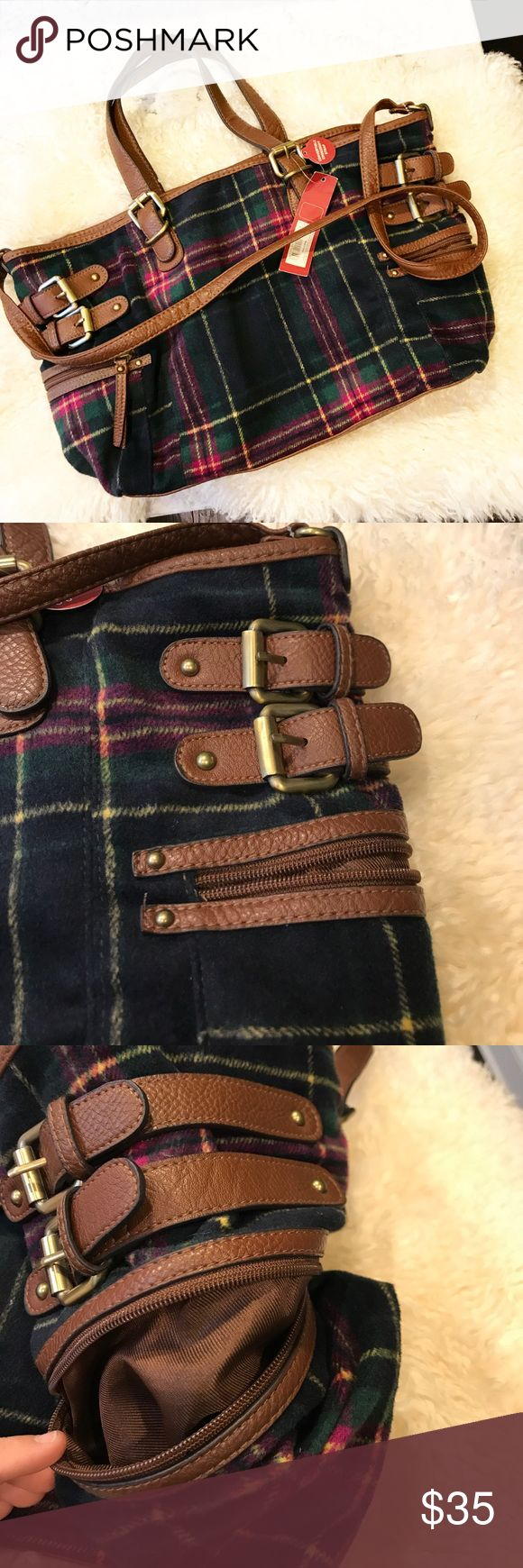 Merona flannel boho cross body bag New with tags! Very soft flannel material. Wear on your shoulder, arm, or cross body style. Many pockets for organization. This brand is sold at Target. Perfect fall & winter purse. Merona Bags