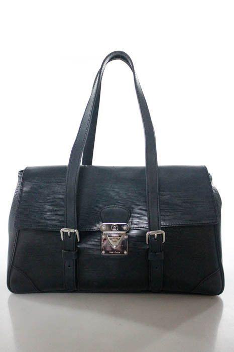 Louis Vuitton Black Epi Leather Double Strap Segur Mm Handbag By3998 Mhl Ebay Link Louisvuittonhandbags