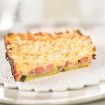 Crumble courgette jambon
