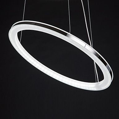 Modern LED Bulb Included Chandelier, 80 LEDs, Concise Circle Iron Acrylic Plating – LightSuperDeal.com