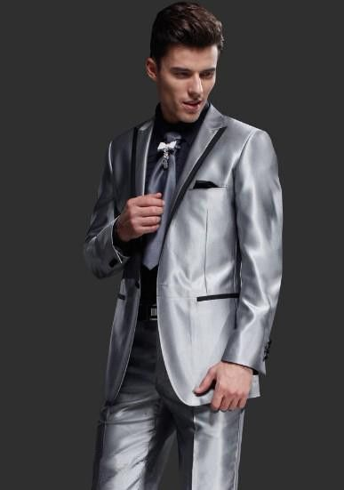 New Classic Mens 3 Piece Suits Custom Made Black Groomsman Dress Wedding Party Suit Best Man Suits Groom Tuxedos Jacket+Pant+Bow