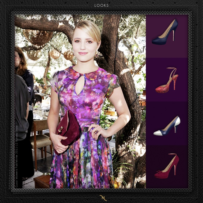Arco-íris para combinar com sapatos Vionee.