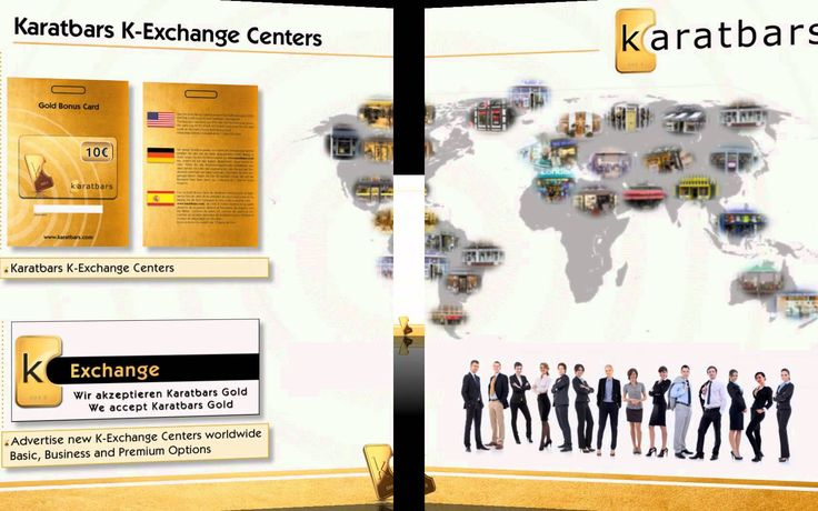 K exchange centers - Learn how to become part of the gold team on : http://karatbarsbusinessowners.com