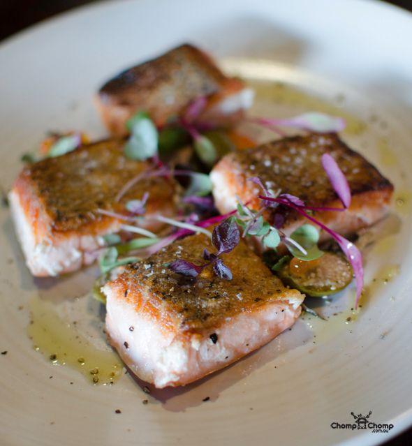 Tasmanian salmon, Spanish white anchovies, caper berries, herbs | The Precinct Vic Park | Food & Travel Blog | Gluten Free