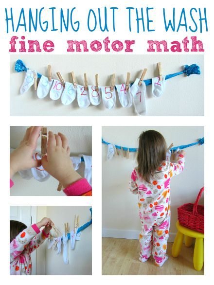 Love this cute Fine Motor Math Activity