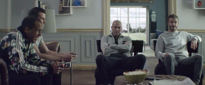 """Zidane et Beckham défient Lucas Moura et Gareth Bale dans le film """"House Match"""" (adidas)"""