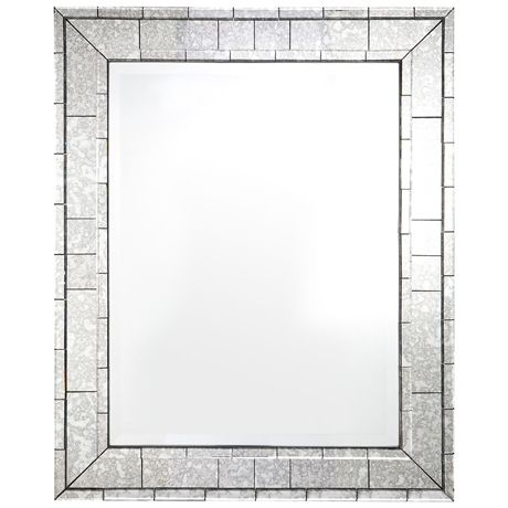Ishmir Antiqued Mirror 103x128cm | Freedom Furniture and Homewares