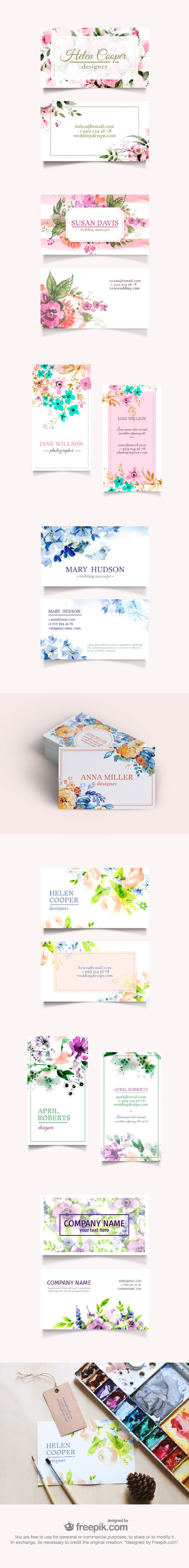 Free Floral Business Cards Collection (exclusive)