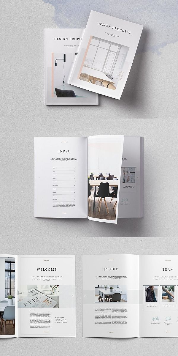 Design Proposal Template Proposal Brochure Template Indesign