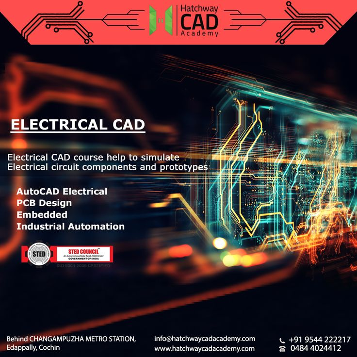 Electrical CAD Course help to simulate Electrical Circuit Components & Protoypes. Hatchway CAD Academy  Building No. 1339H1 & 1339H2,  1st Floor, Behind Changampuzha Metro Station,  Edappally, Cochin, Kerala, India- 682024  Ph : 7356121114, 9544222217 Email : hatchwaycad@gmail.com Visit : www.hatchwaycadacademy.com #RevitinErnakulam #revitinKochi #HVACTraininginstituteinKerala #BestcadcoachingcentreinKochi #BestcadcoachingcentreinErnakulam #AutocadcertificationinKochi…