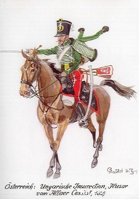 Austria;Hungarian Insurrection, Hussar von Albaer Comlist 1809