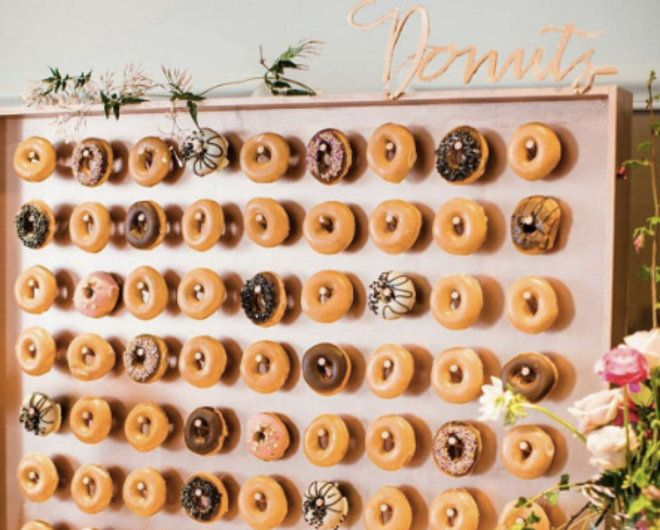 Donut Walls Are Now a Thing at Weddings | Food & Wine ~ 2016                                                                                                                                                                                 More