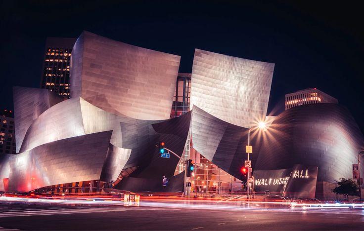 Walt Disney Music Hall Nigh Version Als Wandbild Kristof Puller Fotografie Walt Disney Disney Music Music