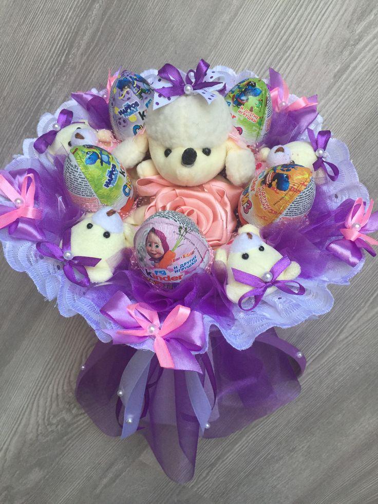 Купить букет для девочки из игрушек и конфет в пензе, цветов дом