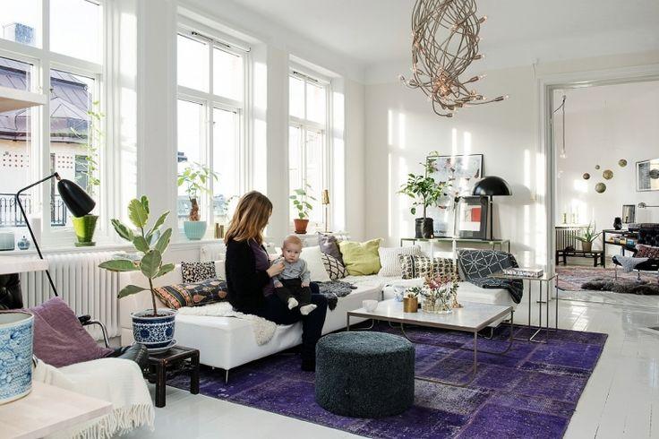 Zweeds huis vol verschillende stijlen