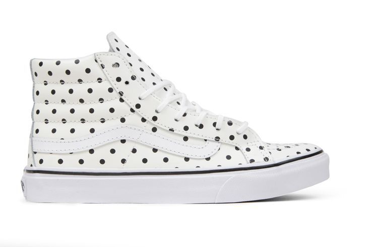 cool Vans Women's Leather Polka Dots Sk8-Hi Slim - White by http://www.illsfashiontrends.top/vans-women/vans-womens-leather-polka-dots-sk8-hi-slim-white/