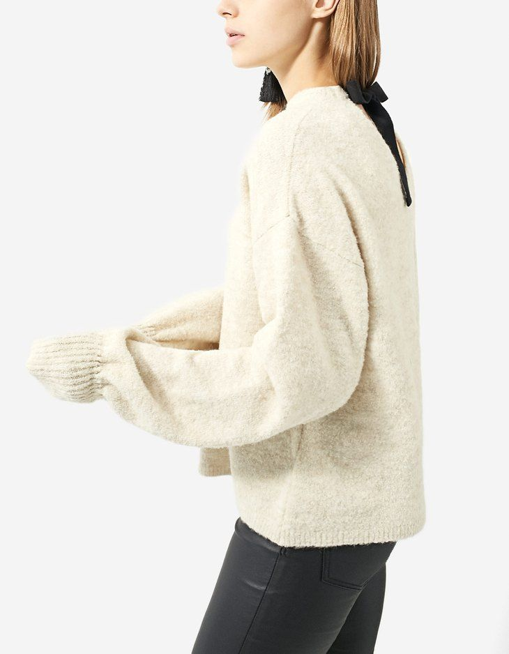 At Stradivarius you'll find 1 Sweater with back bow for just 29.99 United Kingdom . Visit now to discover this and more Faux fur jackets.